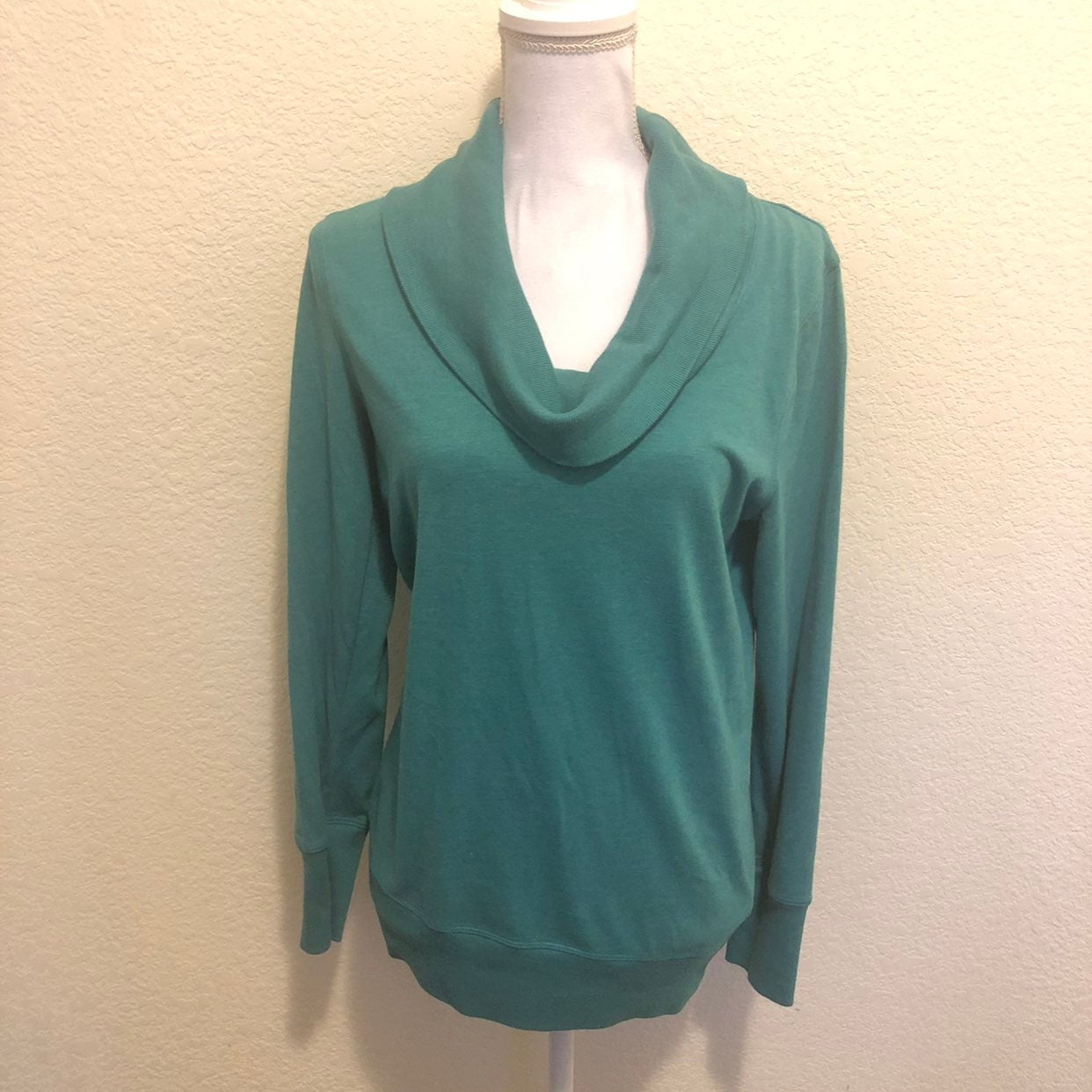 Sonoma Teal Cowl Neck Sweater