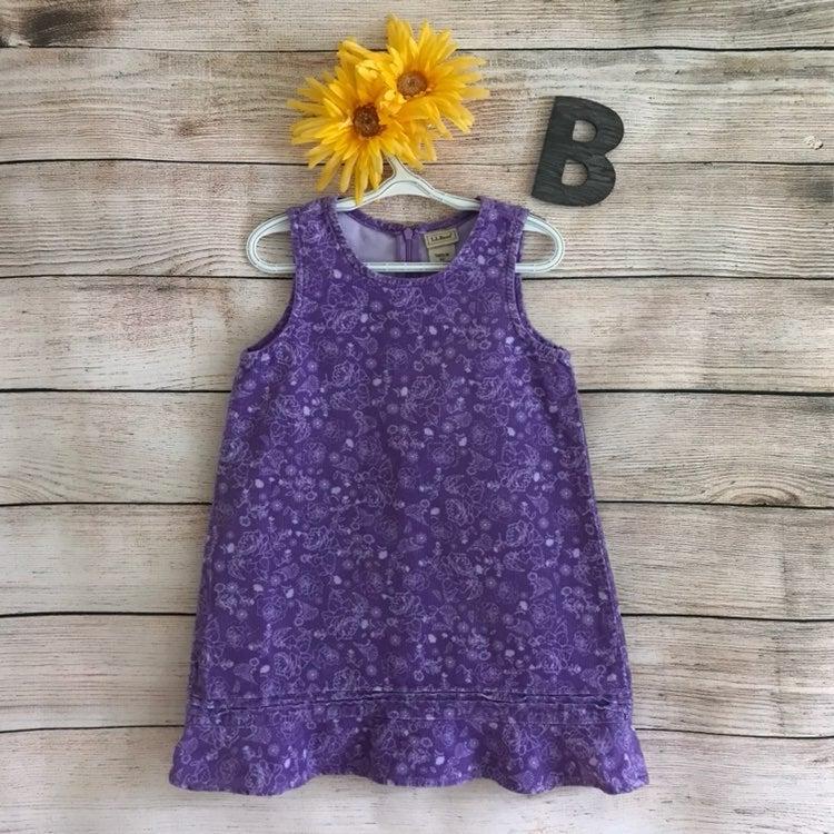 EUC LL Bean Purple Floral Print Jumper