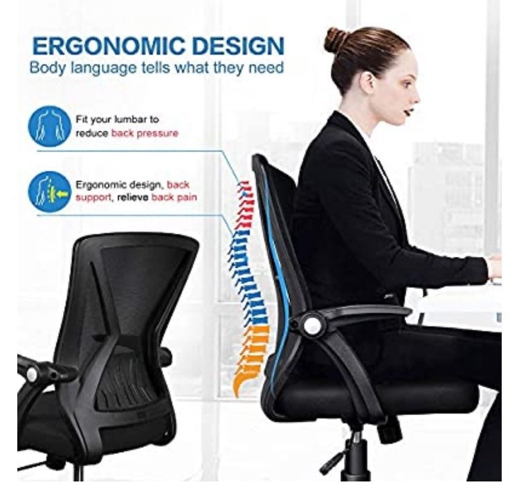 Adjustable Height Task Chair Office Chai