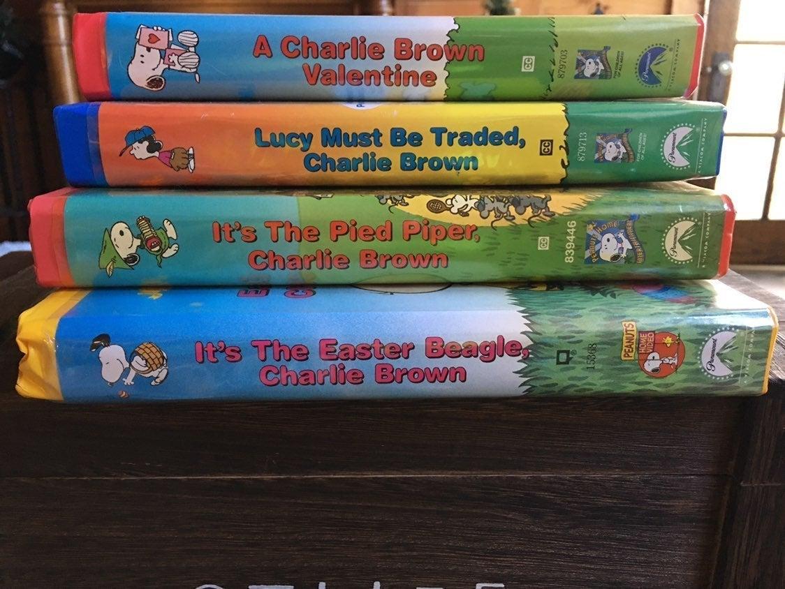 4 Vintage VHS Peanuts Classics Set
