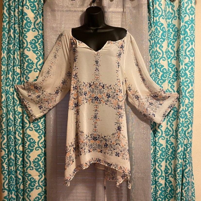 Tunic kimono coverup