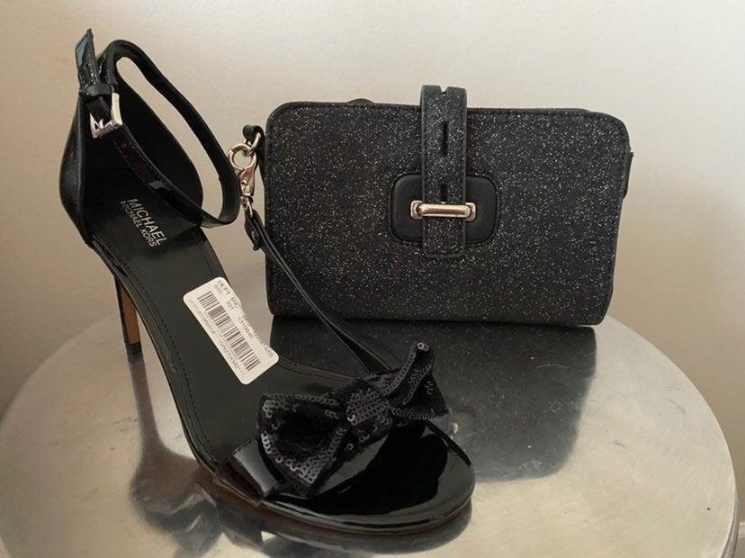 Michael kors heels & clutch bundle