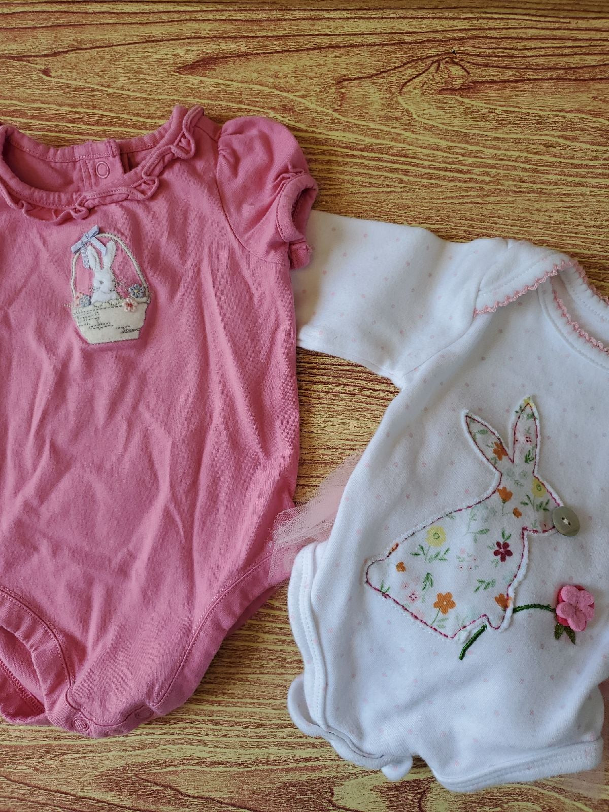 Baby Girl 0-3 bunny lot Easter spring