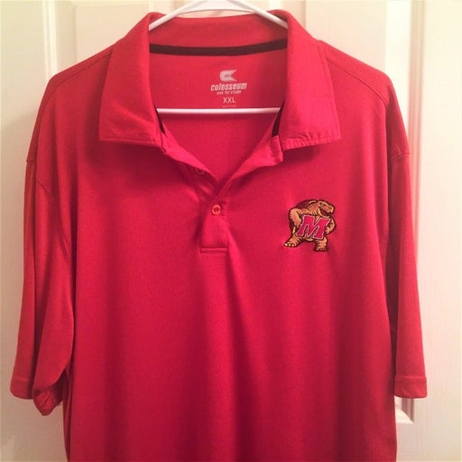 Red Univ. of Maryland Terrapin Polo -XXL