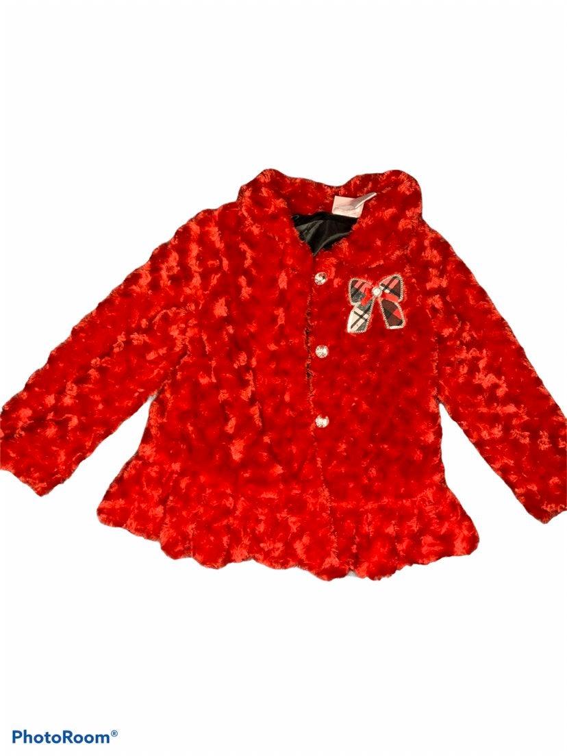 Little Girls Faux Fur Jacket