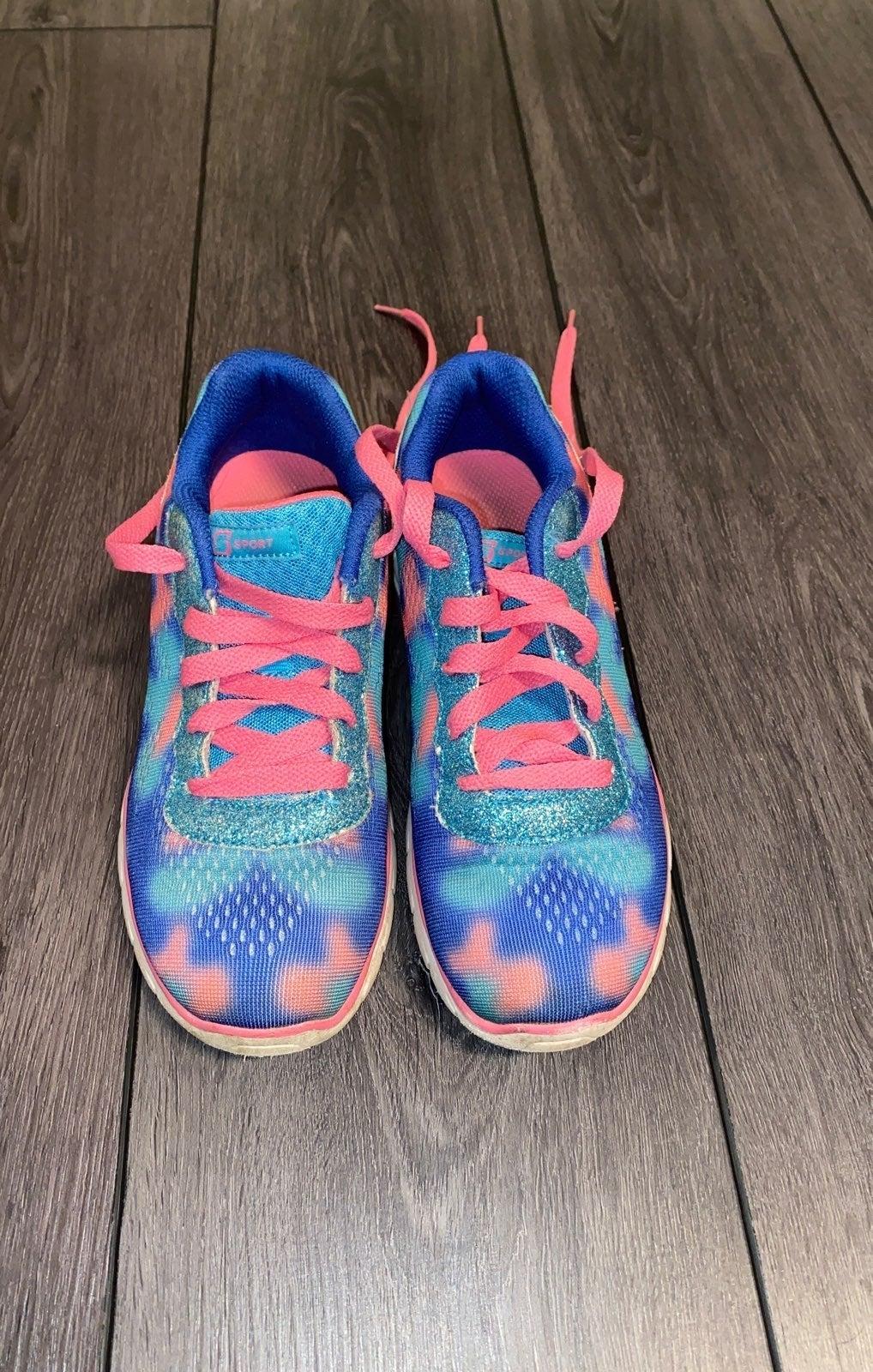 Tie dye glitter sneakers Girls 3