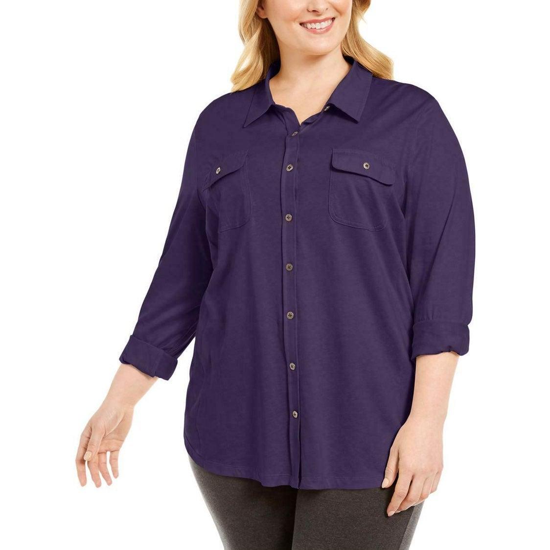 Karen Scott Women's Plus 1X Shirt
