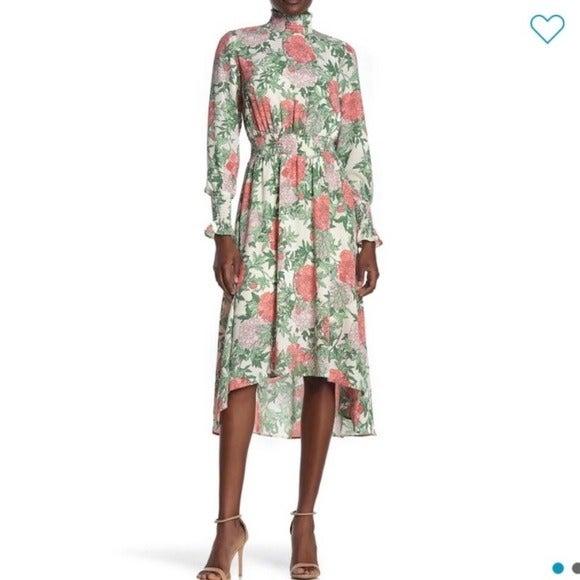 Nanette Lepore Floral High Low Dress