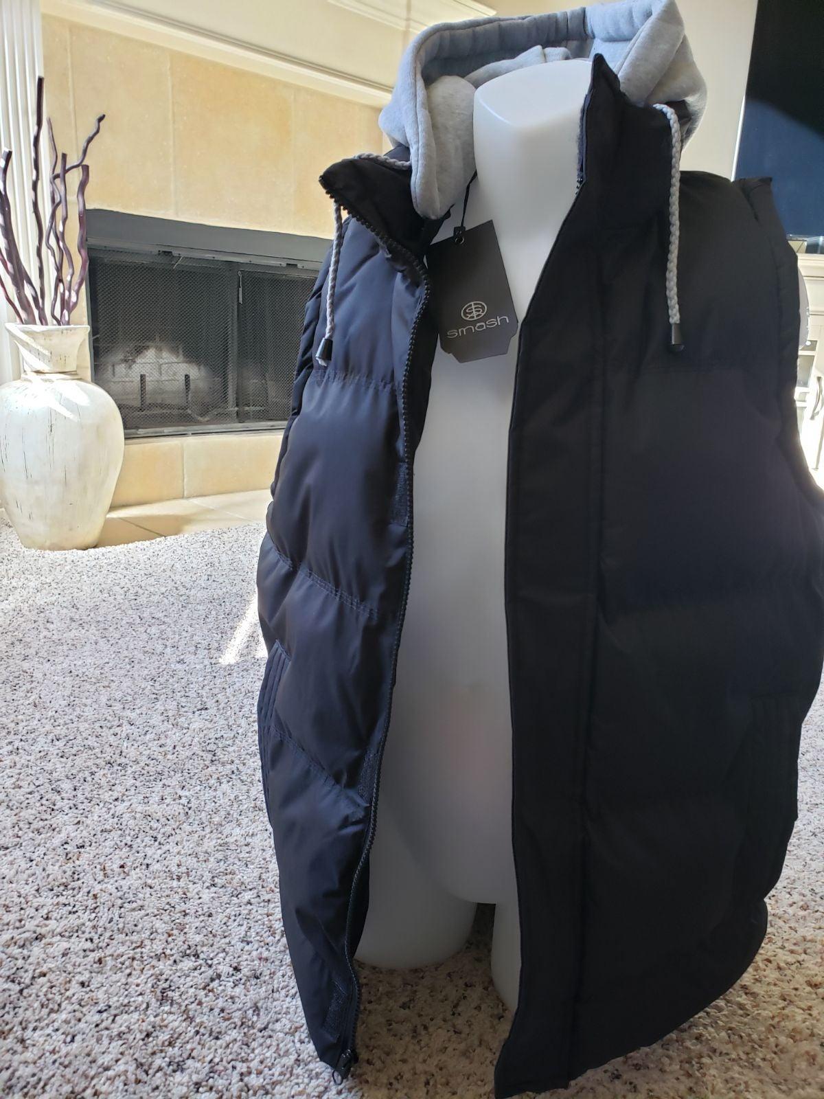 SMASH Men's Puffer Vest Windbreaker