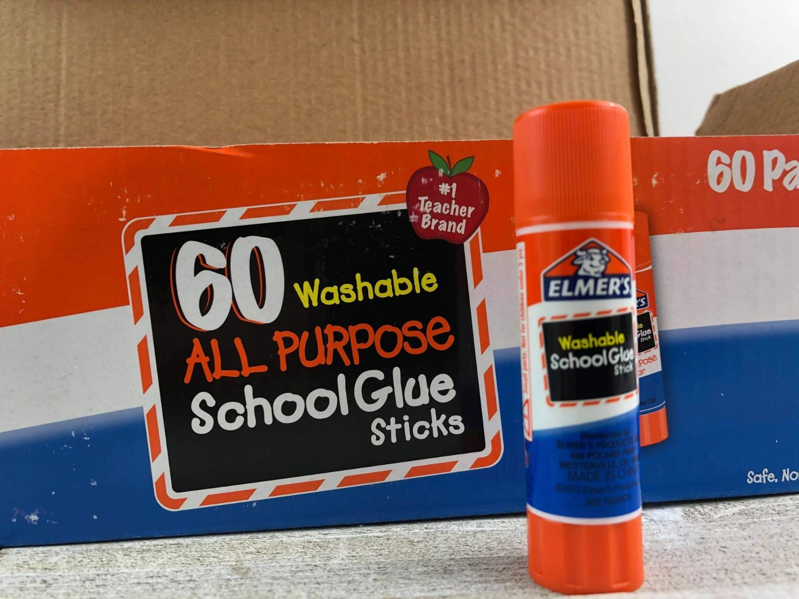 Elmer's glue 60 count all purpose washab