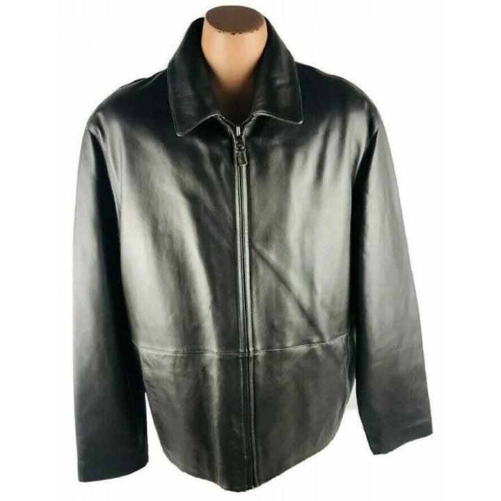Andrew Marc XL Leather Jacket R1