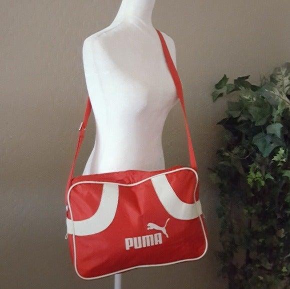 Vintage - Puma Red & White Gym Bag