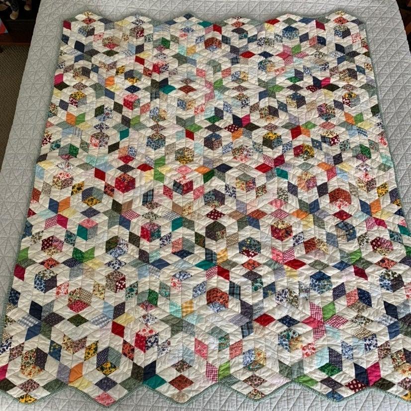 Vintage Patch Magic cotton quilt throw