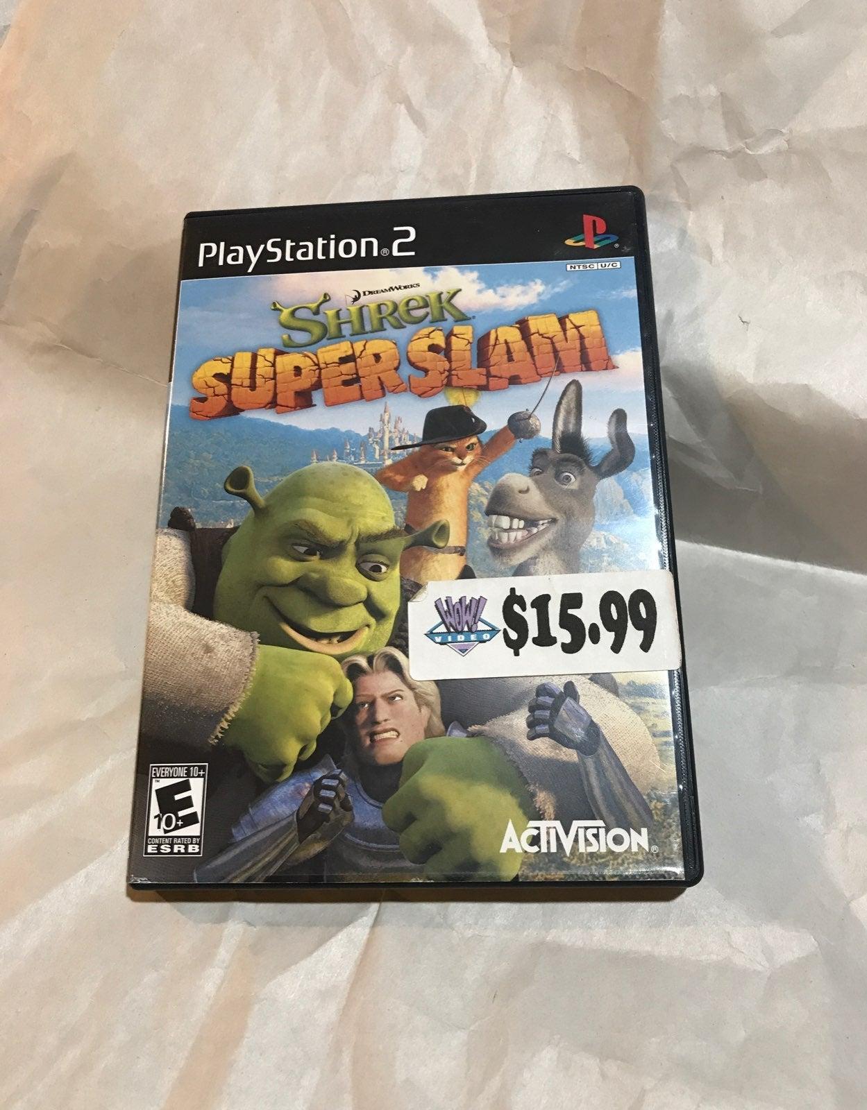 PS2 SHREK SUPER SLAM Game Playstation 2