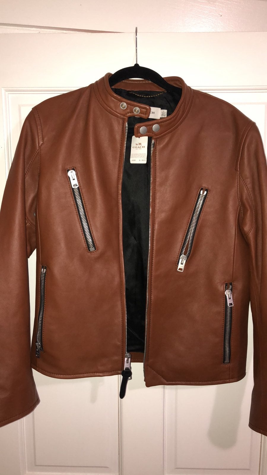 COACH Men's Racer Fawn Brown Leather
