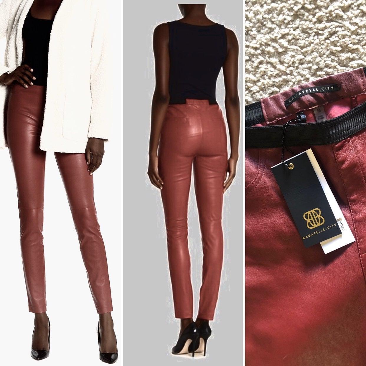 $595 NWT Bagatelle City Leather pants