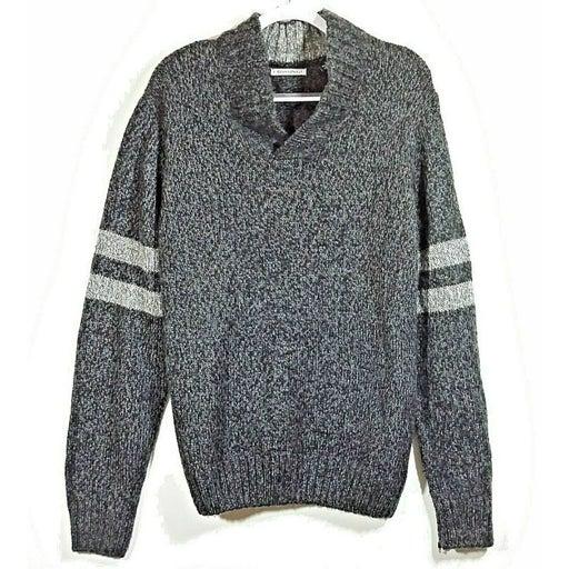 Crossings Mens Shawl Neck Sweater L Gray