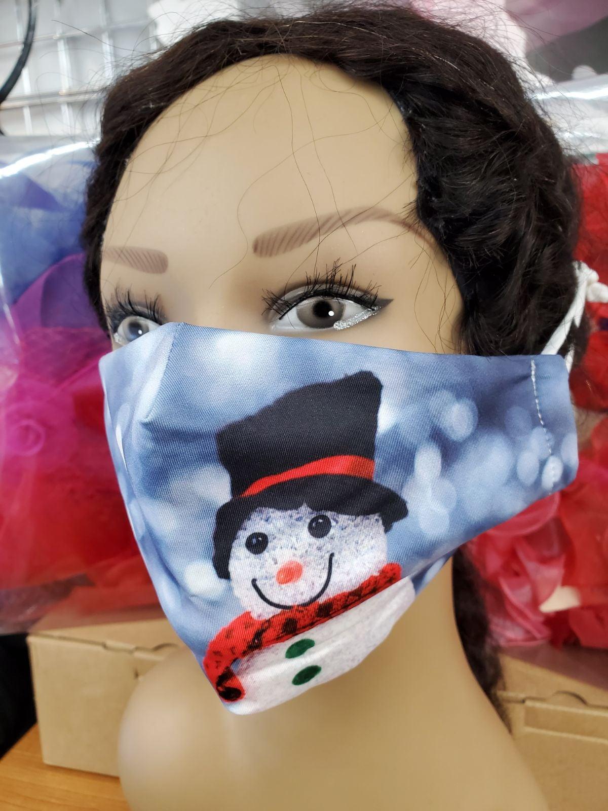 snow man Face Mask
