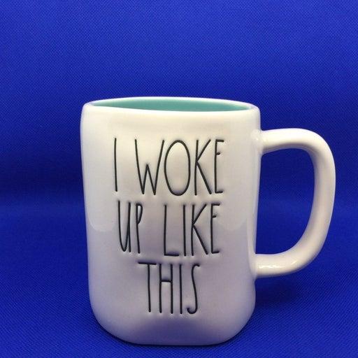 Rae Dunn Green woke up like this Mugs