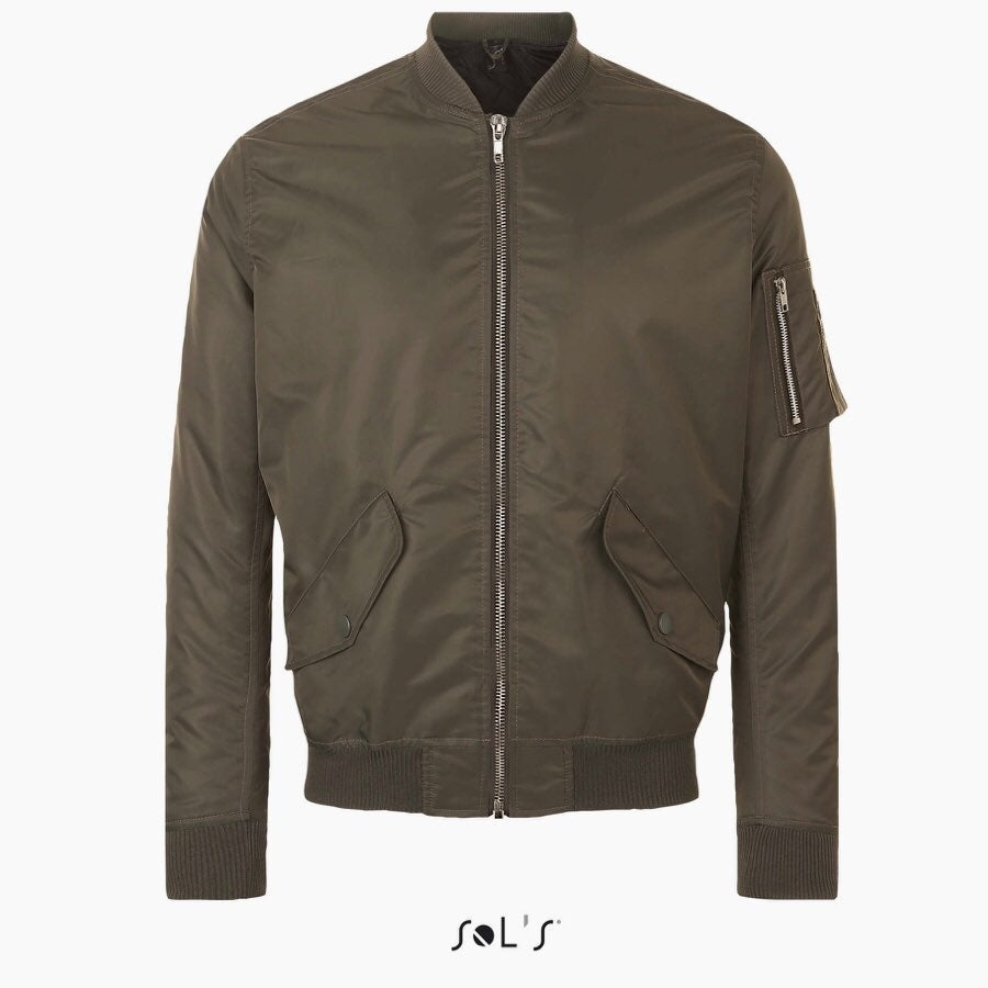 Sol's unisex bomber jacket army green