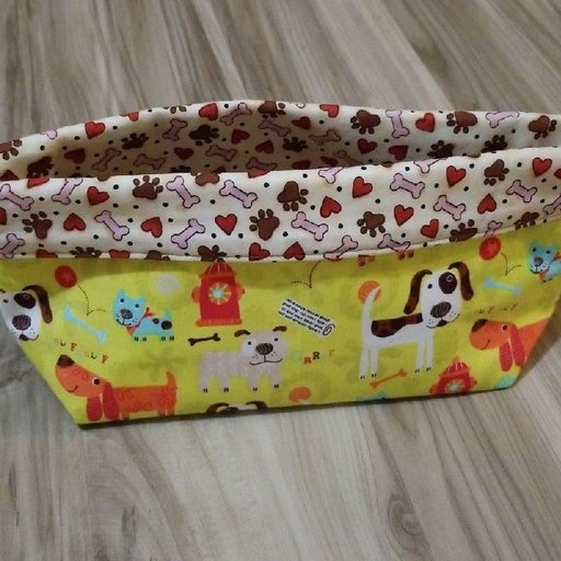 Dog lover handmade pouch / basket