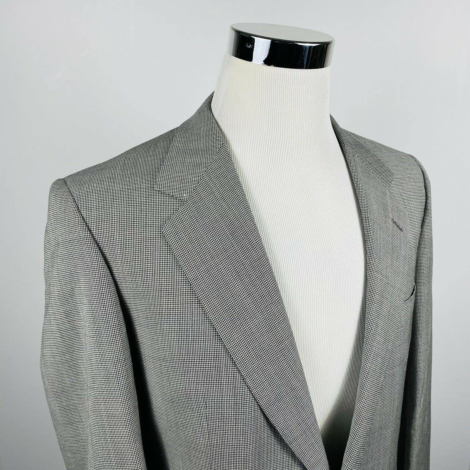 Brioni 40R Traiano Coat Houndstooth