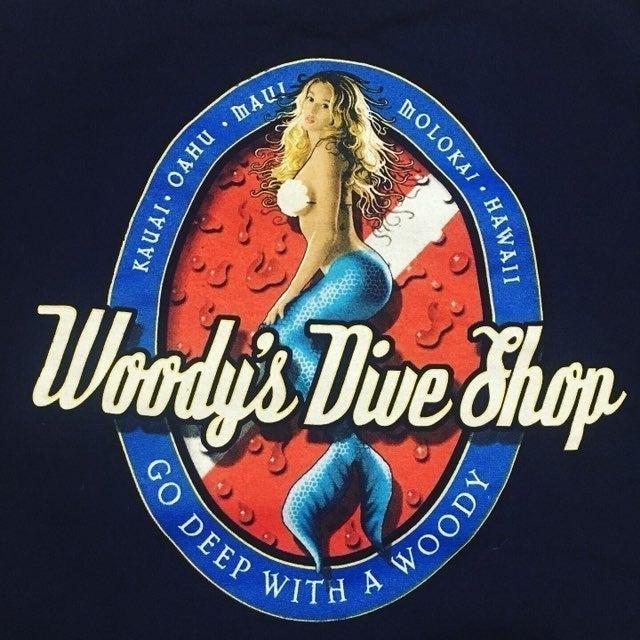 VTG Woodys Dive Shop Hawaii Surf  T - L