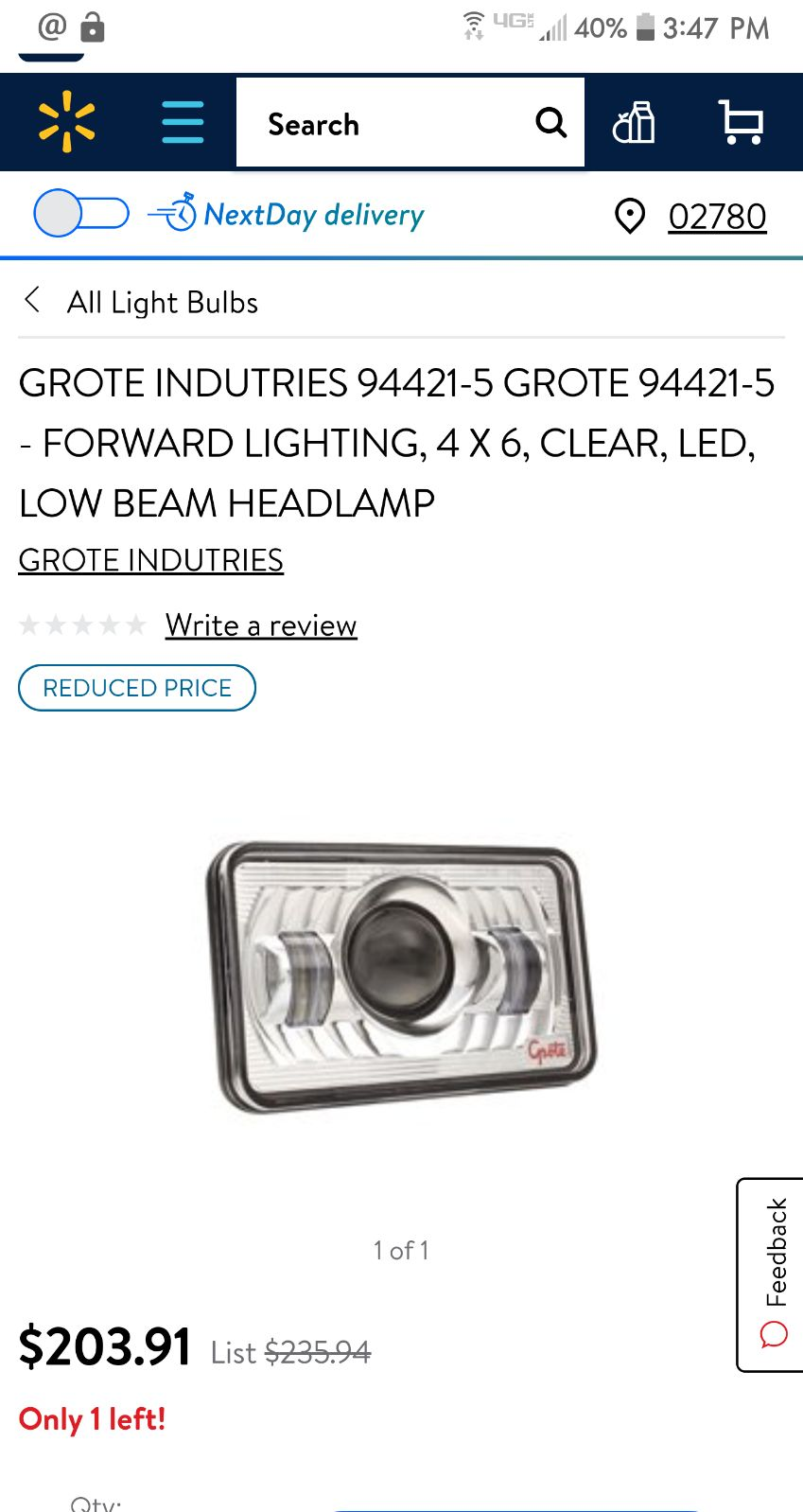 (1 Pair) LED Sealed Beam Replacement Hea