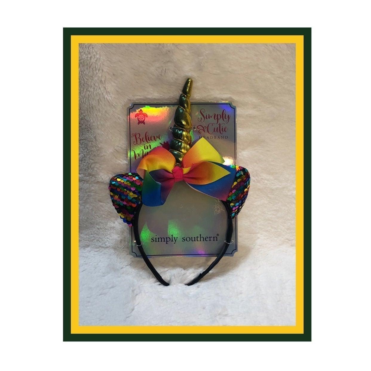 SimplySouthern Rainbow Unicorn Headband