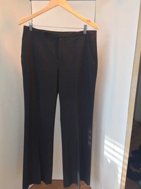 Rafaella Gray Pin Striped Pants Size 12