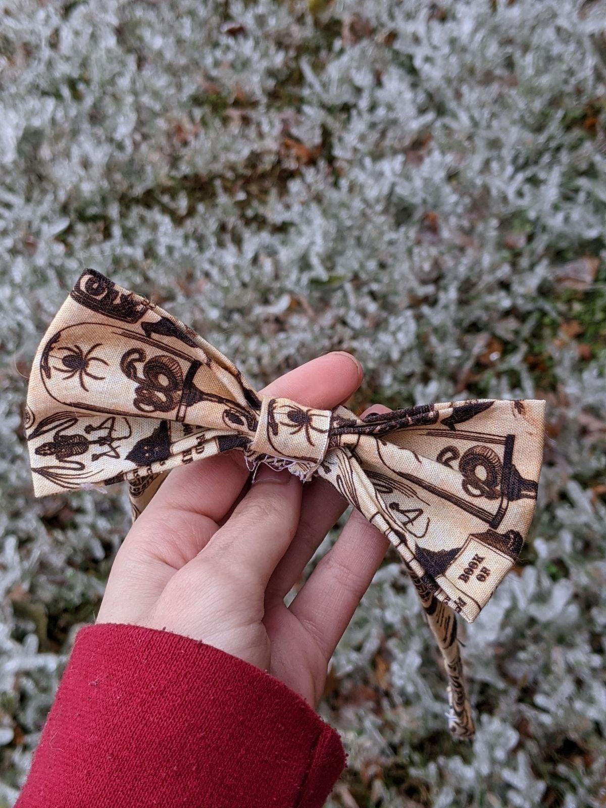 Handsewn Adjustable Halloween Themed Bow