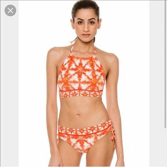 Michael Kors  patterned halter bikini