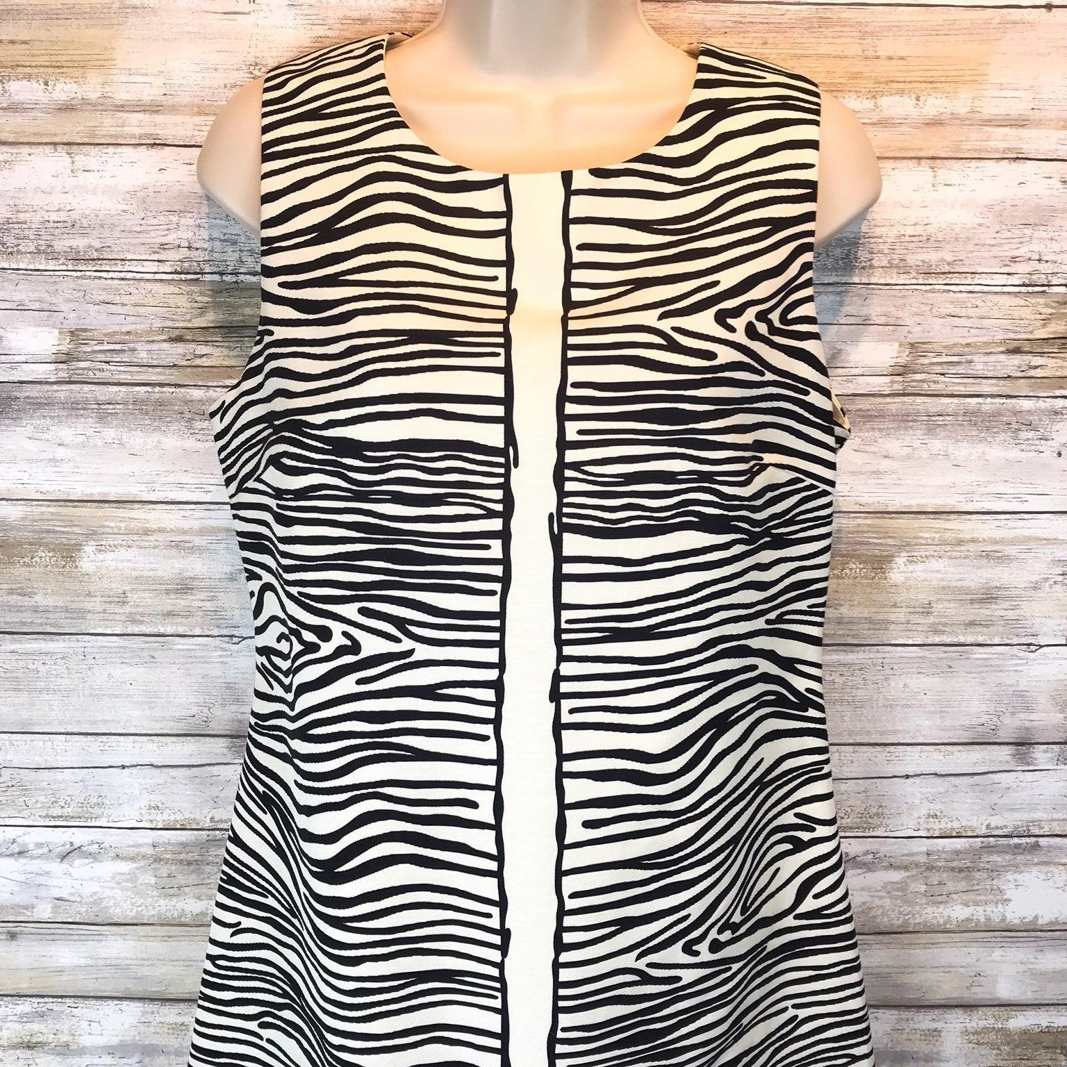 Julie Brown Zebra Print Dress Sz 6