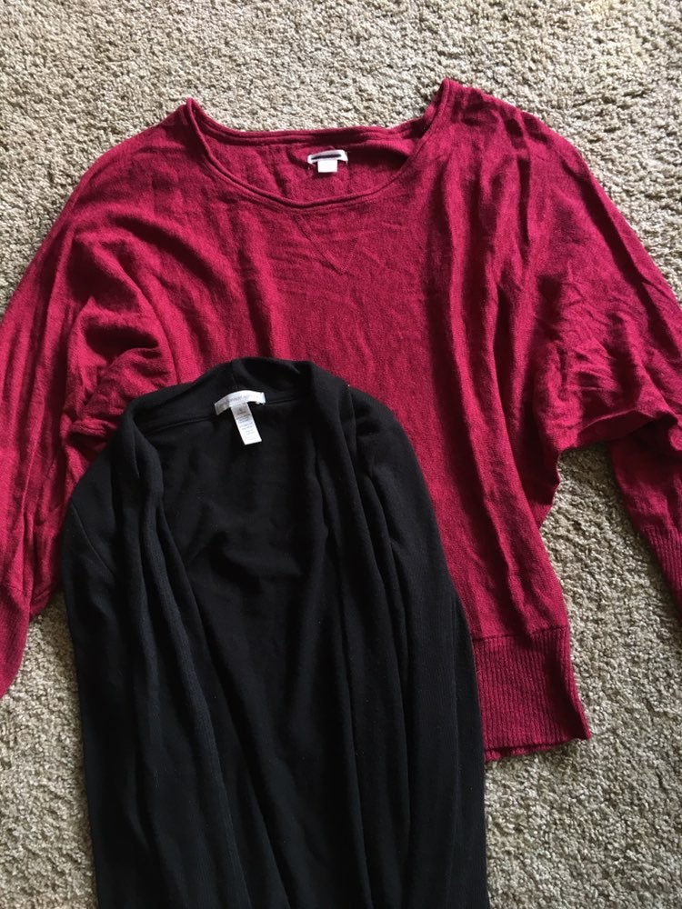 2 For 1! Open Knit And Dolman Sweaters