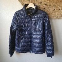 04997aeb0 J. Crew navy puffer coat Size Small