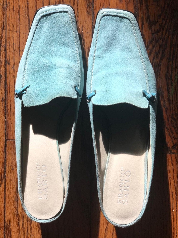 Franko Sarto Tiffany Blue Mules 9M