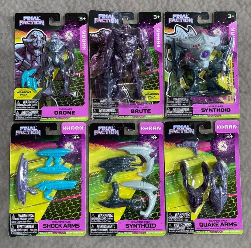 6 Final Faction Action Figures & Weapons