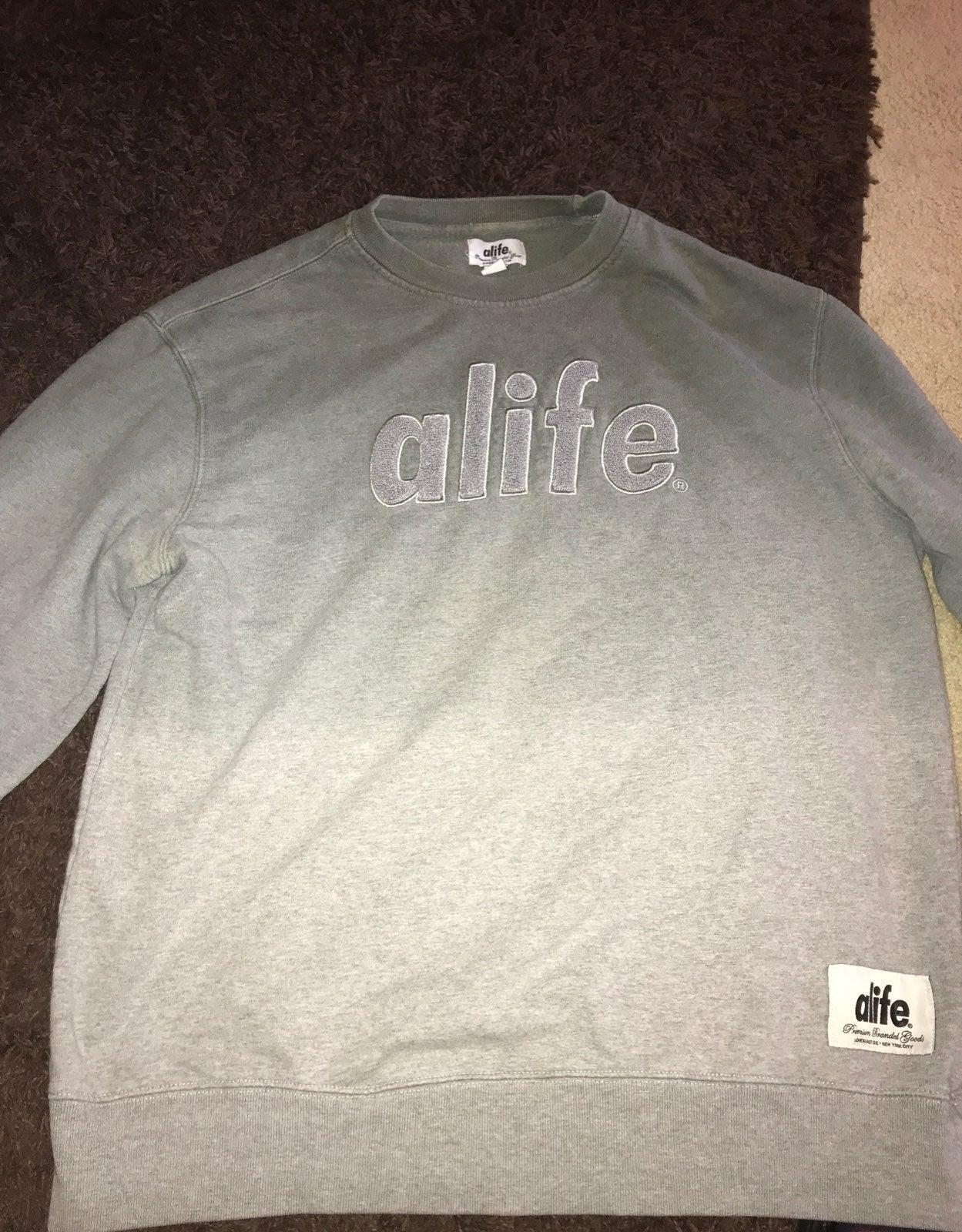 Alife mens Xl grey sweater