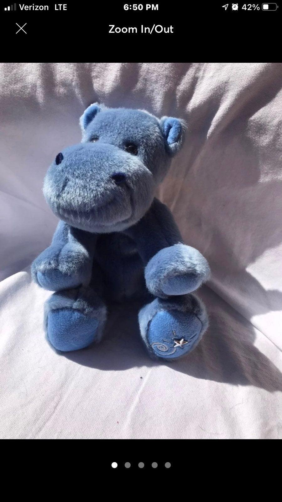 Russ Shinning Star Blue Hippo Plush