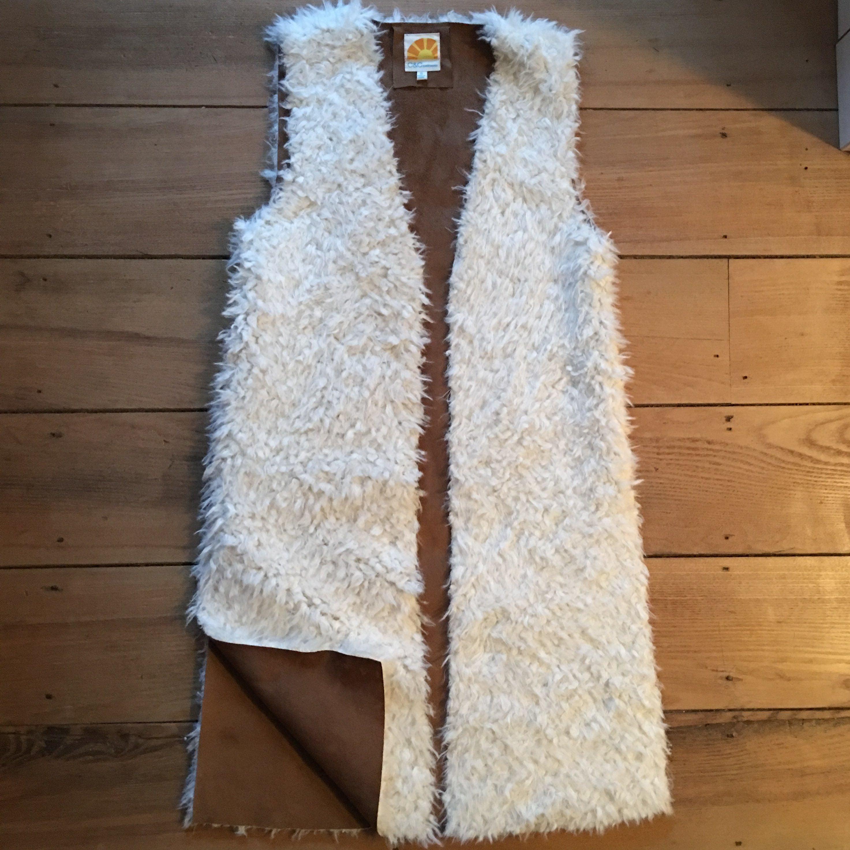 Faux Wool Long Vest