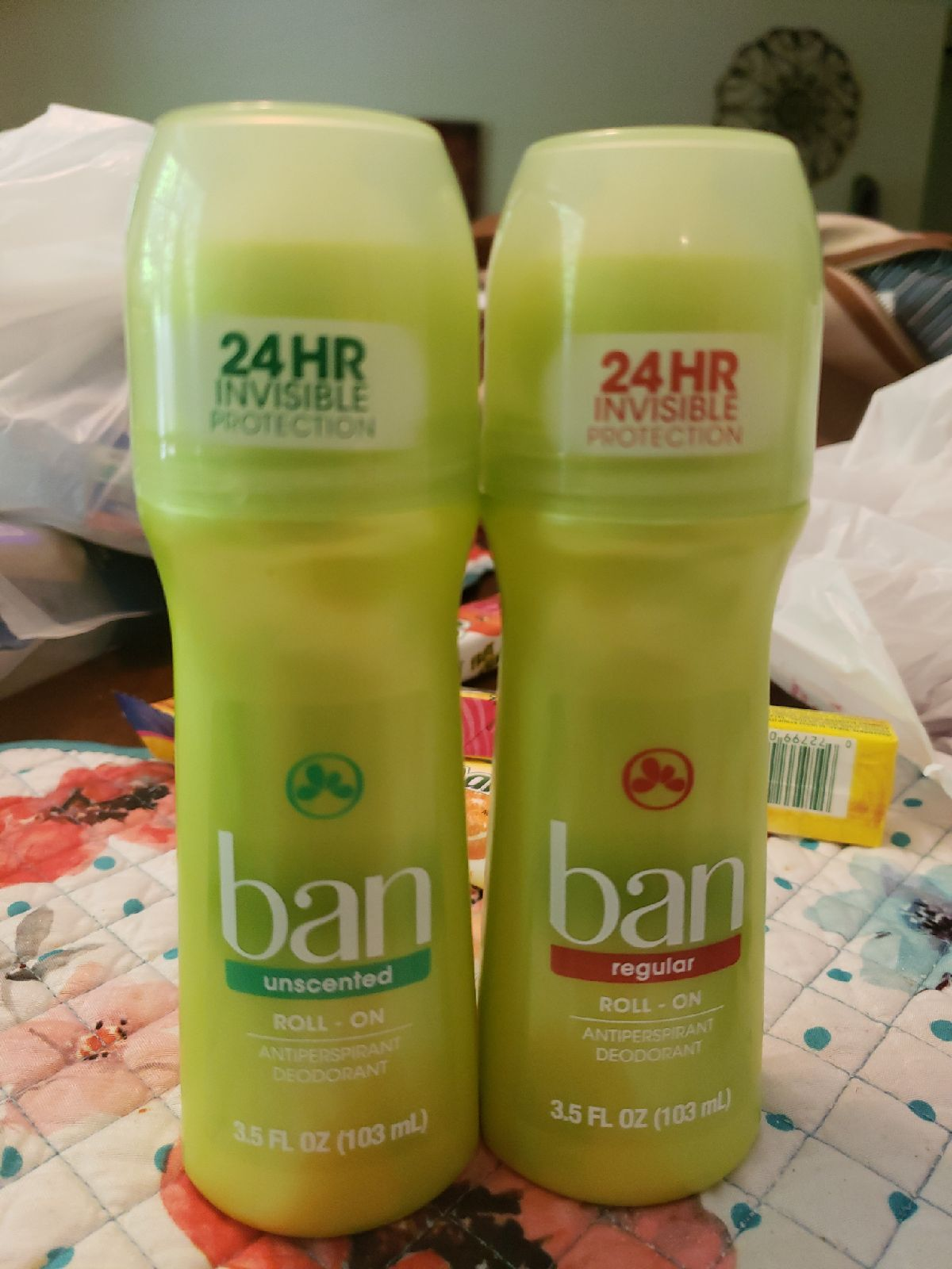 2 ban deodorant unscented and reg