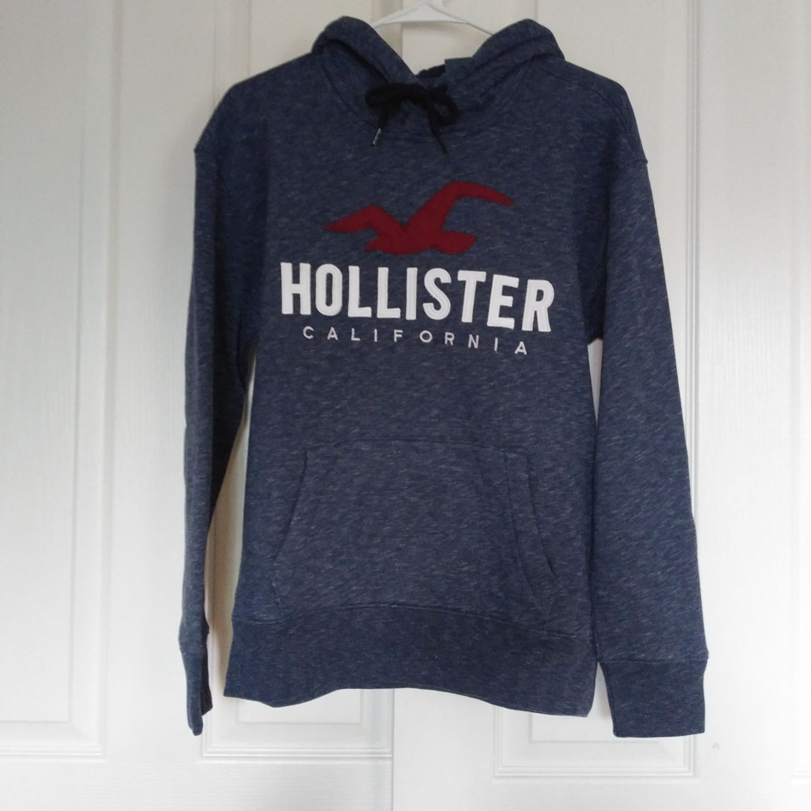 Mens Hollister Logo Pullover Hoodie Xs