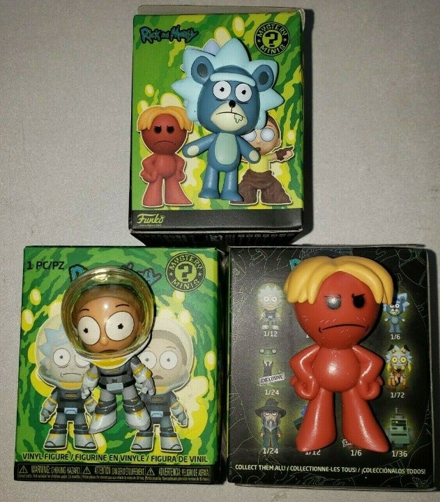 3 Funko Mystery Mini Rick and Morty