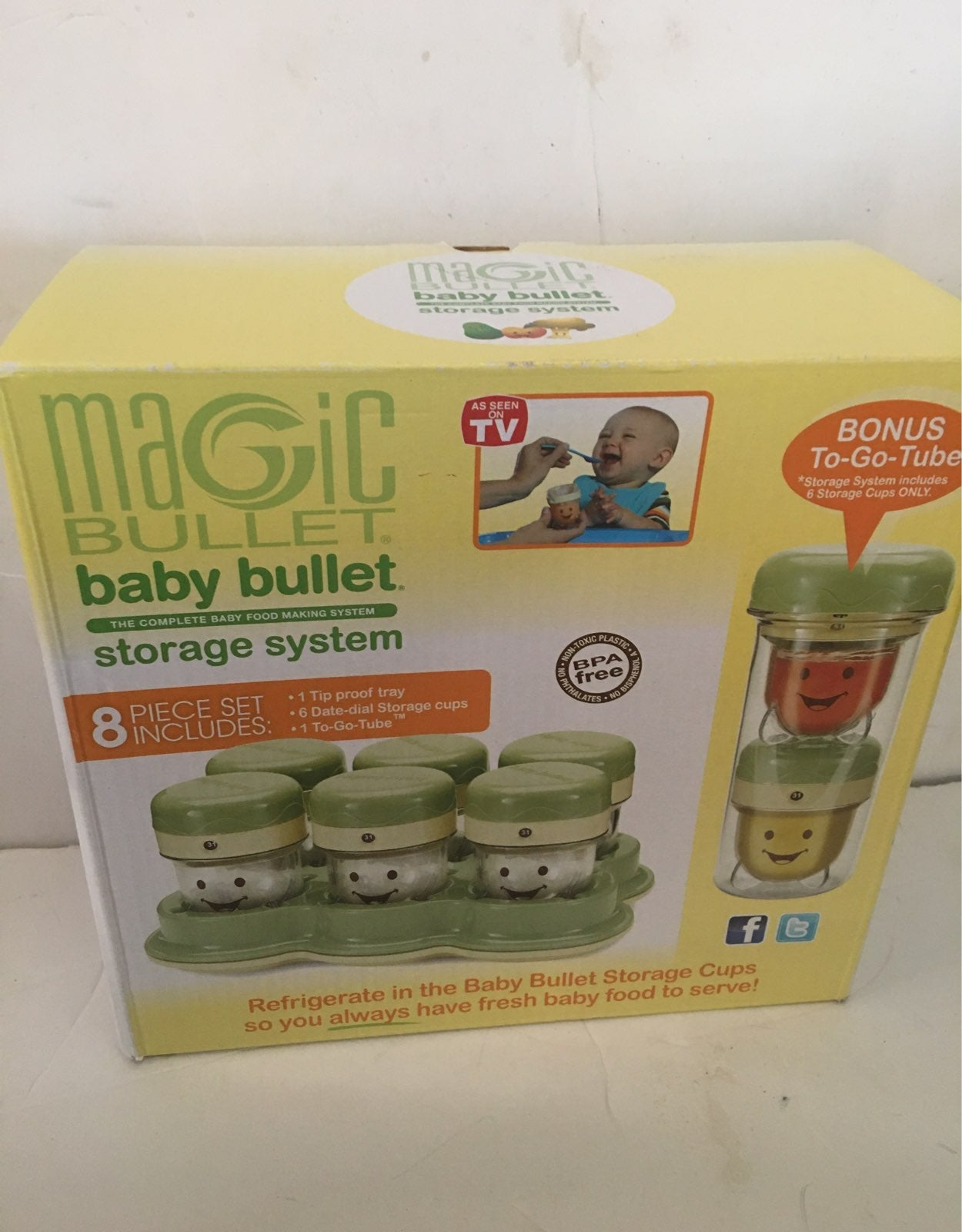 Magic Baby Bullet storage system new