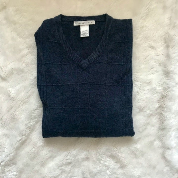Goeffrey Beene navy blue sweater XXL
