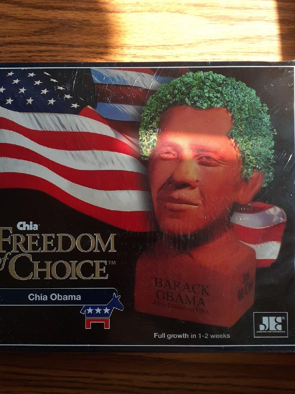 Unopened Barrack Obama Chia Pet