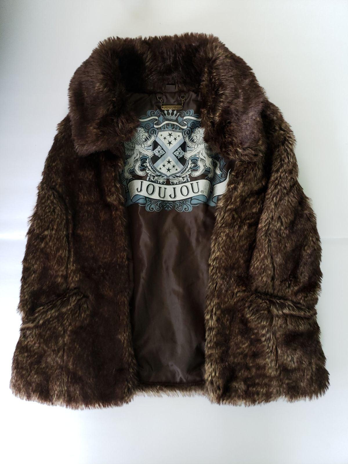 JouJou Brown Faux Fur Vest