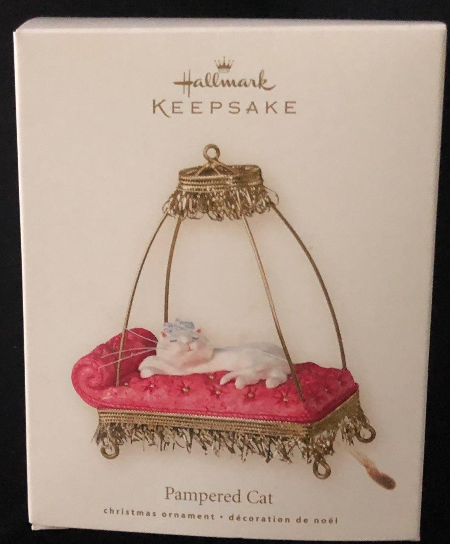 Hallmark Panpered Cat Christmas Ornament