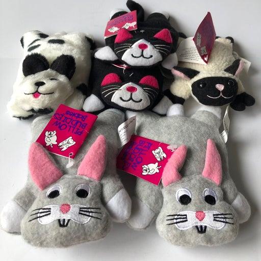 Vtg lot of plush pillow buddies dog cat