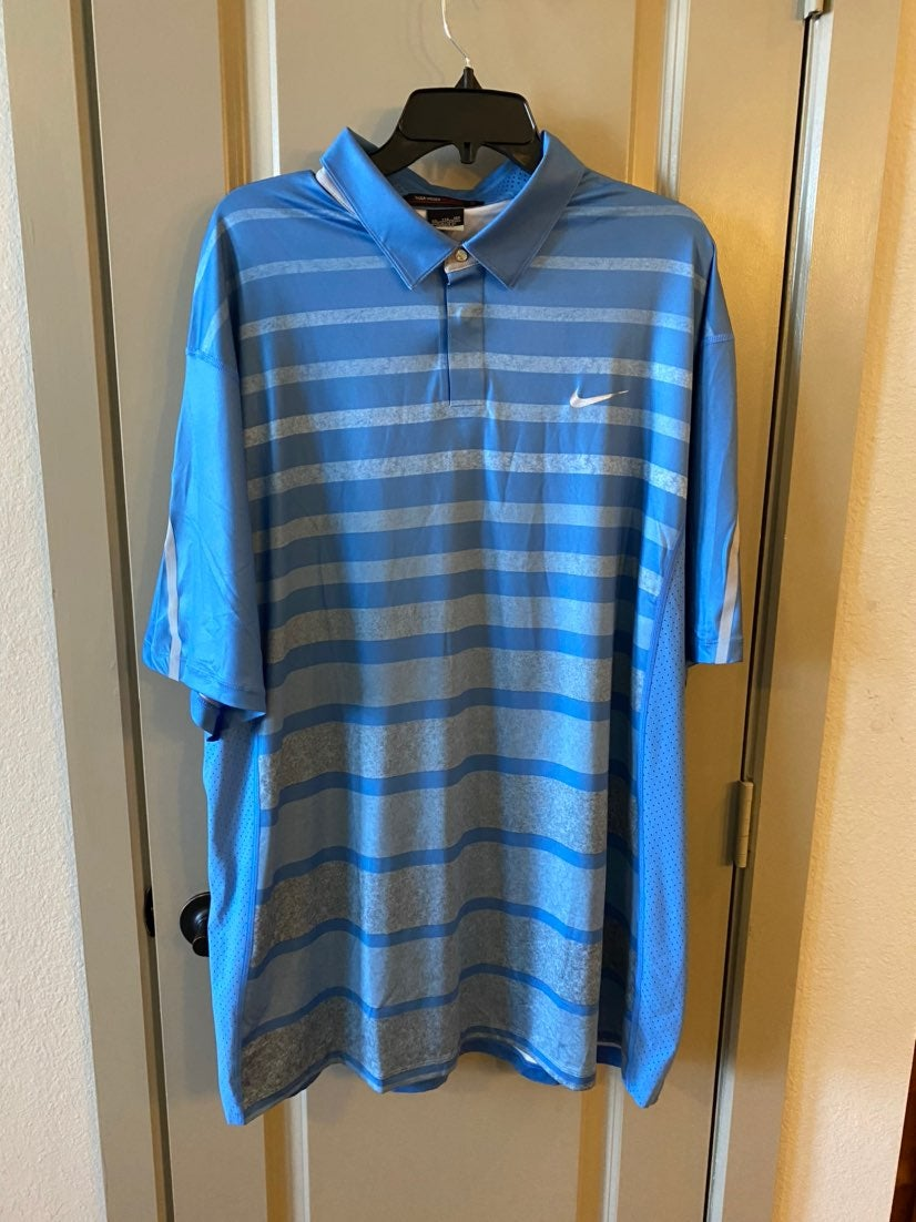 Nike Tiger Woods collection blue Shirt